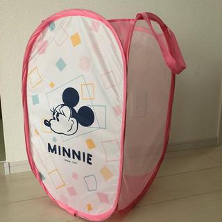 ディズニー(Disney)のディズニー ミニー 折りたたみランドリー 洗濯カゴ 洗濯物 収納 おもちゃ箱(ケース/ボックス)