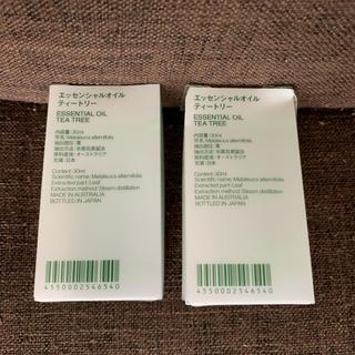 ムジルシリョウヒン(MUJI (無印良品))の新品 無印良品 エッセンシャルオイル ティートリー 30ml 2個 送料込(エッセンシャルオイル(精油))