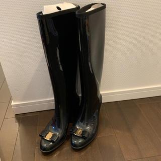 サルヴァトーレフェラガモ(Salvatore Ferragamo)のzou'sshop様専用フェラガモ レインブーツ 7M 24.0〜24.5(レインブーツ/長靴)