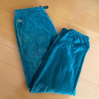 シュプリーム(Supreme)のsupreme × LACOSTE velour pants グリーン S(スラックス)