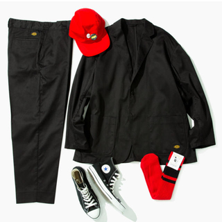 シュプリーム(Supreme)のBEAMS×TRIPSTER×Dickies スーツ ブラック 即発送 (セットアップ)