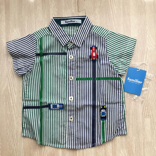 familiar - 美品 ファミリア ストライプ 半袖シャツ