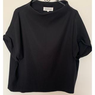 エンフォルド(ENFOLD)のENFOLD 黒 半袖 プルオーバー(シャツ/ブラウス(半袖/袖なし))