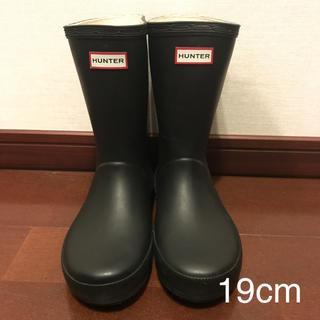 ハンター(HUNTER)の 【ジャングル様専用】HUNTER ハンター レインブーツ ブラック 19cm(長靴/レインシューズ)