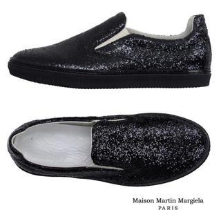 マルタンマルジェラ(Maison Martin Margiela)の【美品・特価!】Maison Margiela グリッタースリッポン(スリッポン/モカシン)