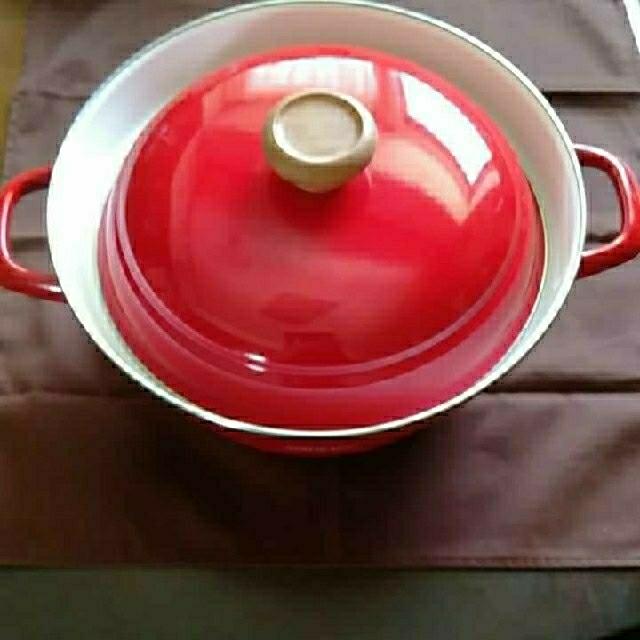 富士ホーロー(フジホーロー)の*富士ホーローIH対応27㌢両手鍋 インテリア/住まい/日用品のキッチン/食器(鍋/フライパン)の商品写真