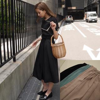 リエンダ(rienda)の新品タグ付き EBLÓA  フロントギャザースカート(ロングスカート)