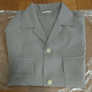 GUドライダブルポケットオープンカラーシャツ Lサイズ ベージュ
