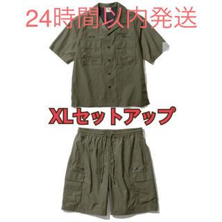 ソフ(SOPH)のGU × SOPH  オープンカラーシャツ カーゴハーフパンツ セット 超大型店(ワークパンツ/カーゴパンツ)