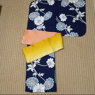 ユナイテッドアローズ(UNITED ARROWS)の浴衣&帯♪レトロ♪お花♪かわいい♪リバーシブル(浴衣)