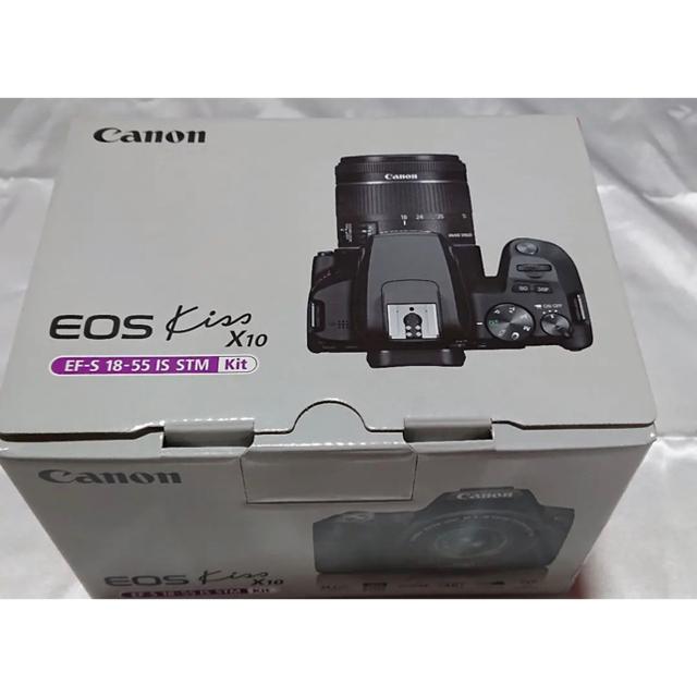 Canon(キヤノン)のcanon eos kiss  x10 ホワイト レンズキット 一眼レフ スマホ/家電/カメラのカメラ(デジタル一眼)の商品写真