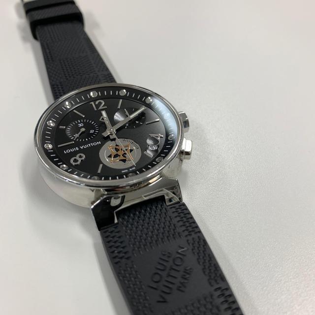LOUIS VUITTON(ルイヴィトン)のルイヴィトン 腕時計 タンブール ムーンスター GM Q8D11 メンズ 黒 メンズの時計(腕時計(アナログ))の商品写真