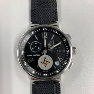 ルイヴィトン(LOUIS VUITTON)のルイヴィトン 腕時計 タンブール ムーンスター GM Q8D11 メンズ 黒(腕時計(アナログ))