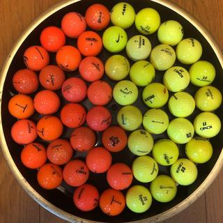 キャロウェイ(Callaway)のゴルフボール ロストボール オレンジ25個黄色25個(その他)