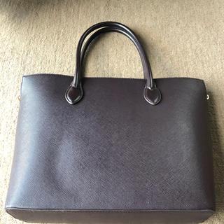 エイチアンドエム(H&M)のリクルートバック トートバッグ 茶 H&M(トートバッグ)