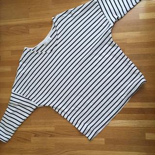 ヴィス(ViS)のvis ボーダー カットソー M(Tシャツ/カットソー(七分/長袖))