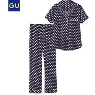GU - GU ドットパジャマ ネイビー