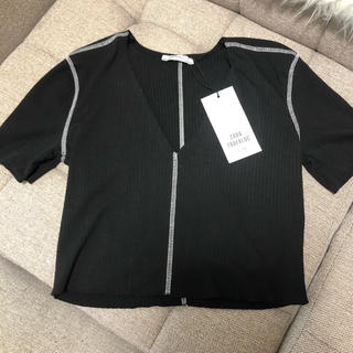 ザラ(ZARA)の新品 ZARA 半袖 Tシャツ(Tシャツ(半袖/袖なし))