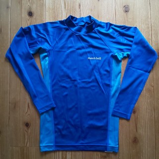 モンベル(mont bell)の■モンベル アクアボディロングスリーブシャツ Kid's140 ラッシュガード (水着)