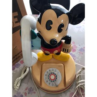 ディズニー(Disney)のミッキーマウス ダイヤル式固定電話 昭和57年製造(その他)