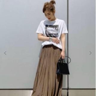 DEUXIEME CLASSE - AP STUDIO サテンギャザースカート 色カーキー