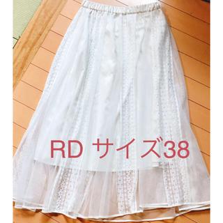 アールディールージュディアマン(RD Rouge Diamant)のRD 白(アイボリー) スカート (ロングスカート)