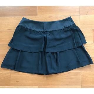 ユニクロ(UNIQLO)のユニクロ ティアード ミニスカート ブラック ウエスト67㎝(ミニスカート)