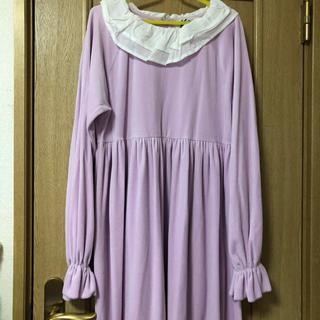 ケイティー(Katie)のkatie DRESS in velvet long sleeb(ひざ丈ワンピース)