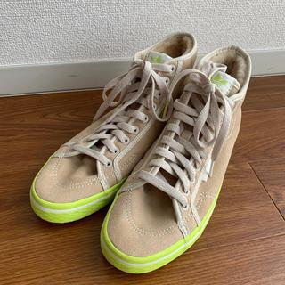 アディダス(adidas)のadidas アディダス ボアミドルカットスニーカー サイズ 24.5センチ(スニーカー)