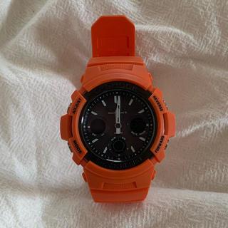 ジーショック(G-SHOCK)の【廃盤】 G-SHOCK AWG-M100MR-4AJFレスキューオレンジ(腕時計(デジタル))