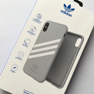 adidas - 【新品】アディダス iPhone X / XSケース 3ストライプ グレー