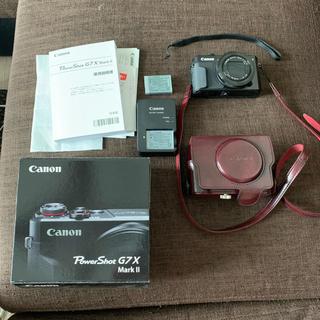 キヤノン(Canon)のCanon PowerShot G7X Mark2 追加バッテリー純正ケース付(コンパクトデジタルカメラ)