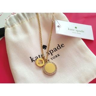 kate spade new york - 新品 ケイトスペード 丸型 パヴェ ネックレス スペード