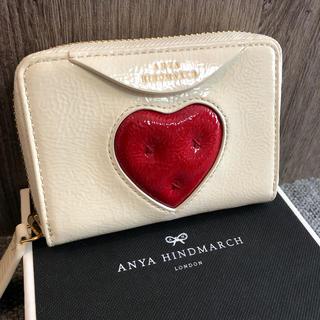 アニヤハインドマーチ(ANYA HINDMARCH)のアニヤハインドマーチ 財布 エナメル  ハート(財布)