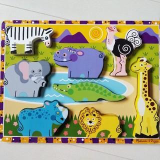 BorneLund - お値下げ☆メリッサアンドダグ サファリ チャンキーパズル 知育玩具 木製パズル