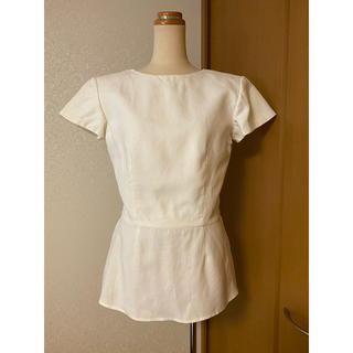 ヴァレンティノ(VALENTINO)の新品未使用!ヴァレンティノ リネン トップス ホワイト(カットソー(半袖/袖なし))