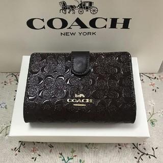コーチ(COACH)のCOACH二つ折り財布で国内発送 F25937(折り財布)