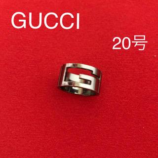グッチ(Gucci)のGUCCI グッチ ルテニウム カットアウトGリング ワイド #20(リング(指輪))