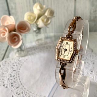 アガット(agete)の【美品】agete アガット 腕時計 ピンクゴールド アンティーク調(腕時計)