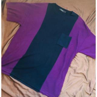 RAGEBLUE - サマーニット 紫 オーバーサイズ