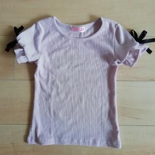 しまむら - 袖リボン Tシャツ 薄紫