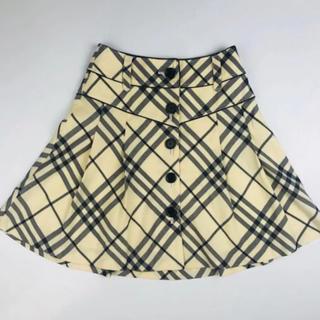 バーバリーブルーレーベル(BURBERRY BLUE LABEL)のBurberry・バーバリーブルーレーベル★チェック プリーツスカート(36)(ミニスカート)