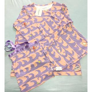 ツモリチサト(TSUMORI CHISATO)の新品タグ付き☆ツモリチサト L パジャマ 7分袖 7分丈 便利bag付き(パジャマ)