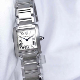 Cartier - 【OH済】カルティエ フランセーズ SM シルバー レディース 腕時計