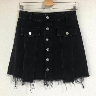 ZARA - ZARA デニムミニスカート ブラック