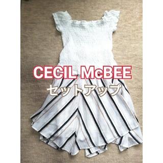 CECIL McBEE - 【CECIL McBEE】フリルTシャツ・ロングスカート