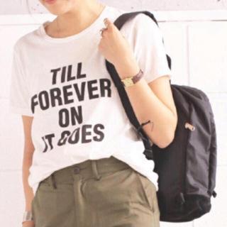 トゥデイフル(TODAYFUL)のTODAYFUL ベーシックロゴTシャツ メッセージ 春 夏 半袖 白 ホワイト(Tシャツ(半袖/袖なし))