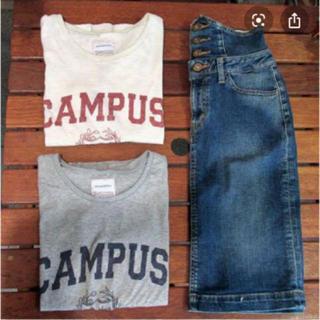 トゥデイフル(TODAYFUL)のTODAYFUL カレッジTシャツ 半袖 シンプル ロゴ 春 夏 グレー(Tシャツ(半袖/袖なし))