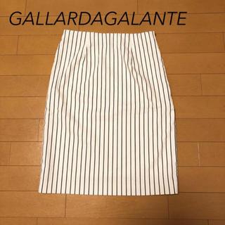 ガリャルダガランテ(GALLARDA GALANTE)の【美品】ガリャルダガランテ♡膝丈ストライプスカート(ひざ丈スカート)