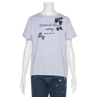 メゾピアノジュニア(mezzo piano junior)のメゾピアノ新品タグ付きリボンTシャツ150cm(Tシャツ/カットソー)